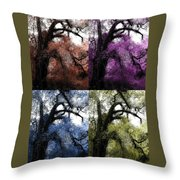 Haunting Beauty Of Hues Throw Pillow