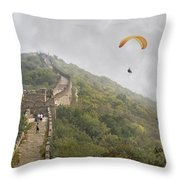 Haunting Great Wall Throw Pillow