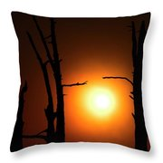 Haunting Sunrise Throw Pillow