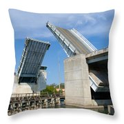 Hauover Canal In Florida Throw Pillow