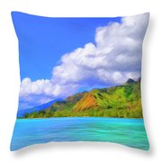 Hauru Point Moorea Throw Pillow