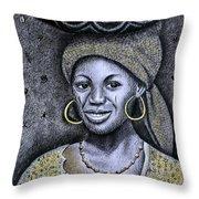 Hausa Maiden  Throw Pillow