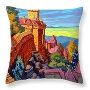 Haut Koenigsburg Castle, Alsace, France Throw Pillow