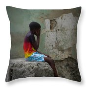 Havana Boy Throw Pillow
