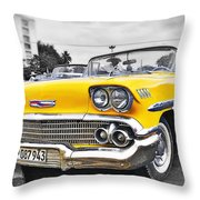 Havana Chevy Dreams  Throw Pillow