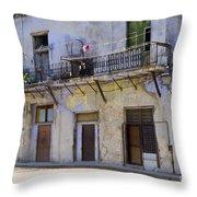 Havana City Apartments  Throw Pillow
