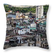 Havana Cityscape Throw Pillow
