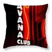 Havana Club At Night Throw Pillow
