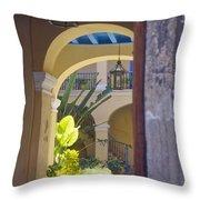 Havana Courtyard Throw Pillow