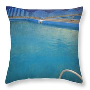 Havana Cuba Swimming Pool And Ocean Throw Pillow