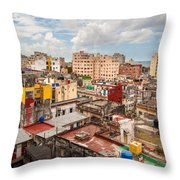 Havana From Above Throw Pillow