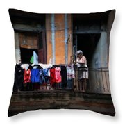 Havana Laundry No. 1 Throw Pillow