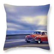Havana Malecon Throw Pillow