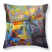 Havana Market Artwork Throw Pillow