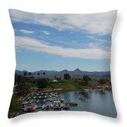 Havasu City Az Waterfront Throw Pillow