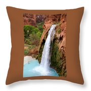 Havasu Falls Throw Pillow