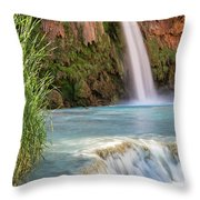 Havasu Falls Travertine Ledge Throw Pillow