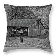 Have A Chaw Monochrome Throw Pillow