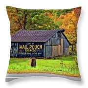 Have A Chaw Painted Throw Pillow