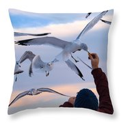 Have A Cracker Throw Pillow