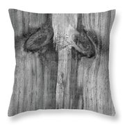 Have A Nice Day Bw Throw Pillow