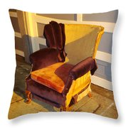 Have A Seat In Dore Alley Throw Pillow