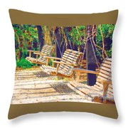 Have A Seat Relax Throw Pillow