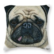 Have I Been Pugged Throw Pillow
