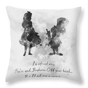 Have I Gone Mad? Black And White Throw Pillow