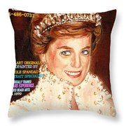 Have Your Portrait Painted Contact Carole Spandau 30 Years Experience Throw Pillow