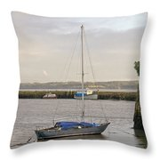 Haven. Smooth Water. Throw Pillow