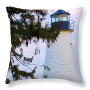Havre De Grace Lighthouse Throw Pillow