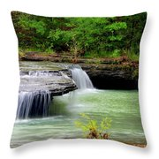 Haw Creek Falls Throw Pillow