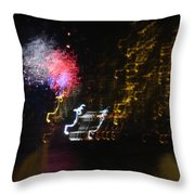 Hawaii Fireworks Throw Pillow