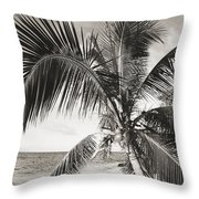 Hawaii Ocean Palm Throw Pillow