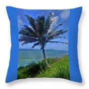 Hawaii Palm Throw Pillow
