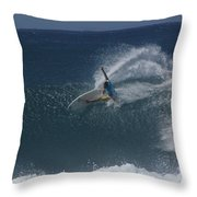 Hawaii Pipeline Throw Pillow