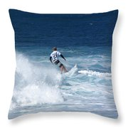Hawaii Pipeline Surfer Throw Pillow