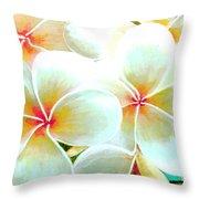 Hawaii Plumeria Frangipani Flowers #86 Throw Pillow