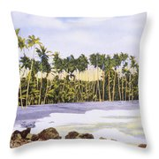 Hawaii Postcard Throw Pillow