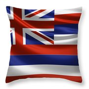 Hawaii State Flag Throw Pillow