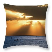 Hawaii Sunset Panorama Throw Pillow