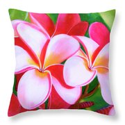Hawaii Tropical Plumeria Flower #212 Throw Pillow