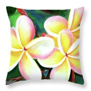 Hawaii Tropical Plumeria Flower #213 Throw Pillow