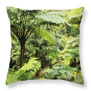 Hawaii Tropical Rainfores Throw Pillow