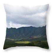 Hawaii Valleys Throw Pillow