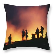 Hawaii Volcanoes National Park Throw Pillow