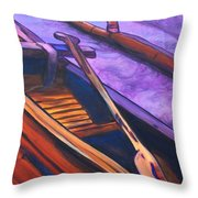 Hawaiian Canoe Throw Pillow