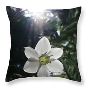 Hawaiian Flower Throw Pillow