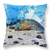 Hawaiian Green Turtle Honu Throw Pillow